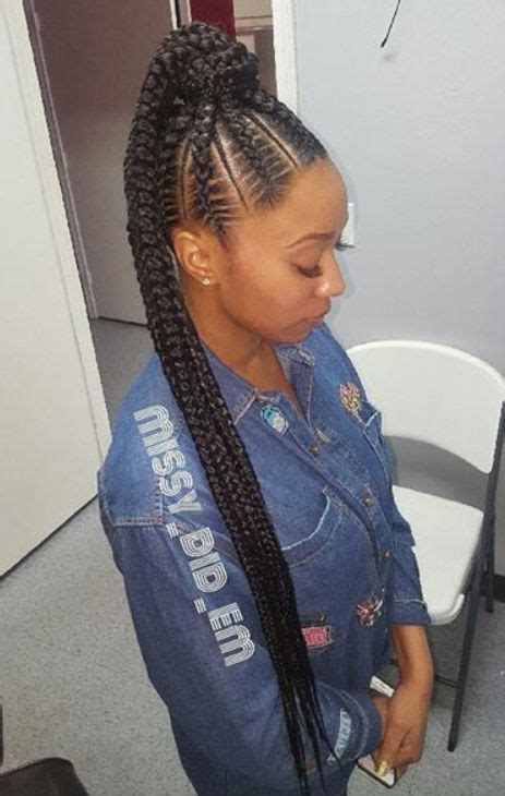 renewed goddess braids ponytail hairstyles