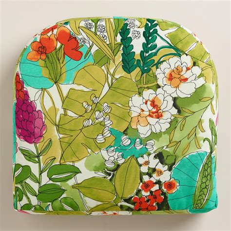 Patio Cushions World Market Fiji Foliage Gusseted Outdoor Chair Cushion World Market
