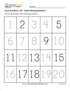 trace numbers 1 20 kindergarten numbers worksheets
