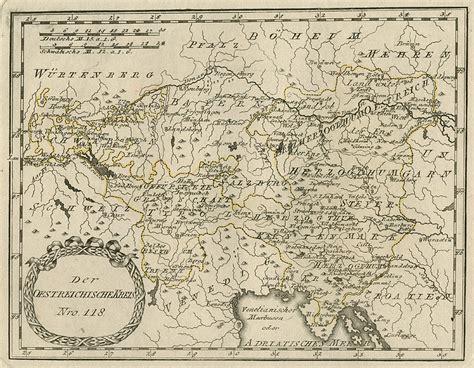 oesterreich landkarte im alte stiche joseph steutzger