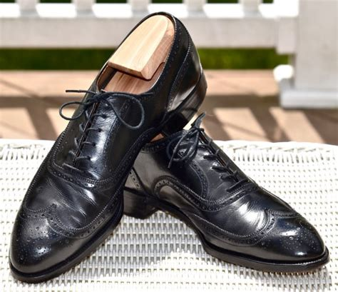 1940s bostonian brogue wingtip mens dress shoes by