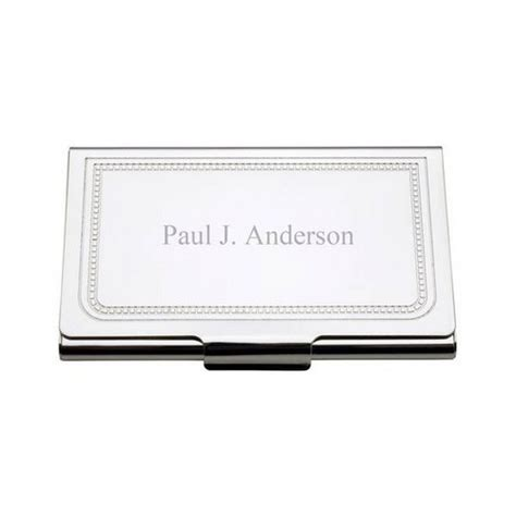 Business Card Holder Engraved Gift - charleston personalized business card holder