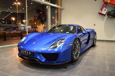 porsche hypercar glamorous blue porsche 918 spyder is our type of hypercar