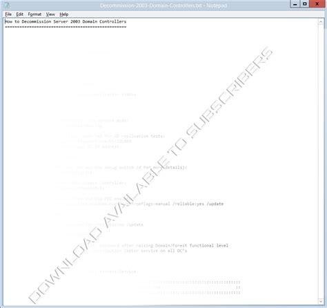 php kerberos tutorial decommission the last server 2003 domain controller
