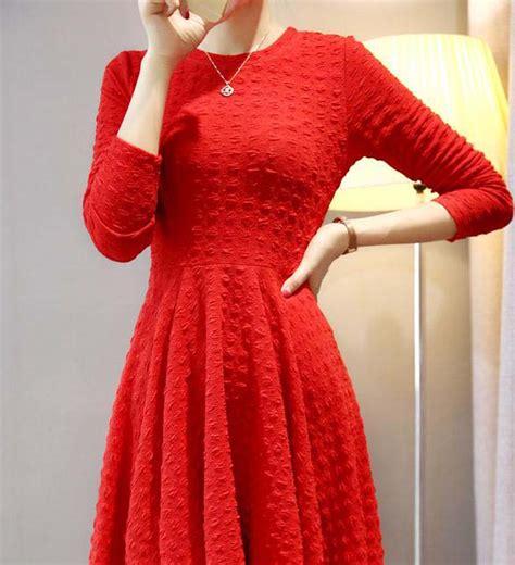 Longdress Aulona Dress Wanita Dress Natal 2 dress natal terbaru import jual model terbaru murah