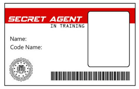 secret id card template green gourmet giraffe detective magnifying