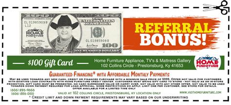 referrals coupons home furniture prestonsburg