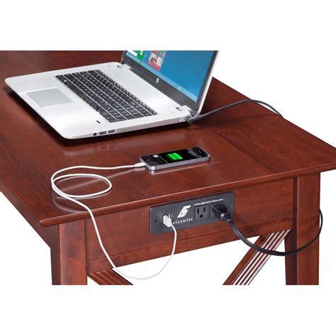 Atlantic Desk by Atlantic Furniture Charger Writing Desk In Walnut