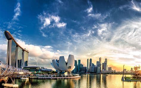 wallpapers singapore  panorama marina bay