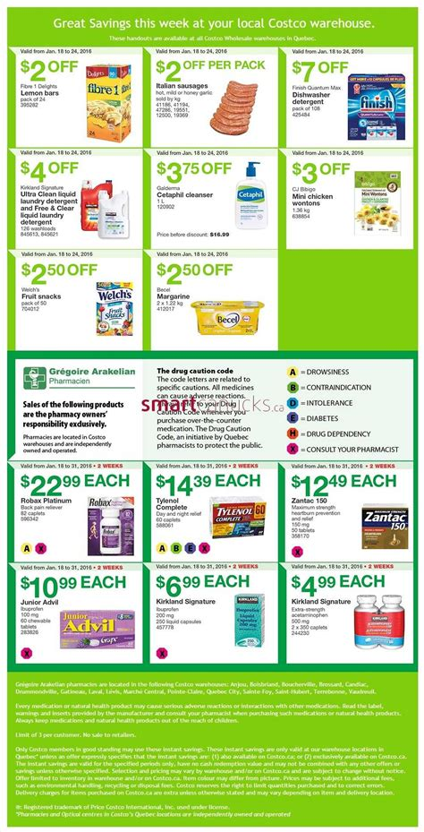 Smart Saver Set 18 costco weekly savings jan 18 24