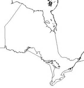Blank Ontario Map by Free Blank Outline Map Of Ontario