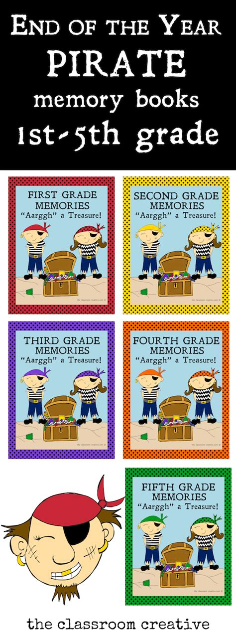 picture book of the year pirate class memory books 1st 2nd 3rd 4th and 5th grade