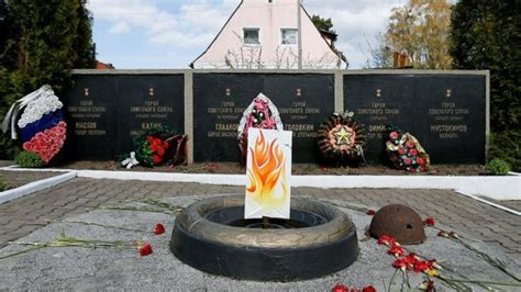 russian village replaces eternal flame  cardboard cutout