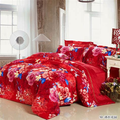 king size red comforter winter luxury romantic rose red comforter sets king size