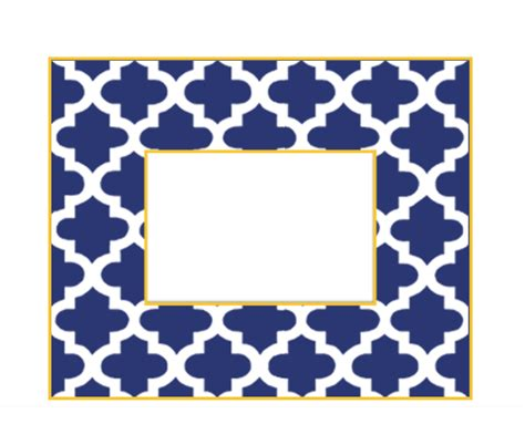 White Gloss Desk Reverse Moroccan Tile Picture Frame