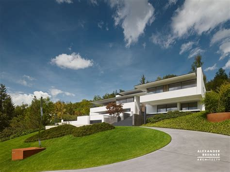 modern home design germany german contemporary house on top of the hill