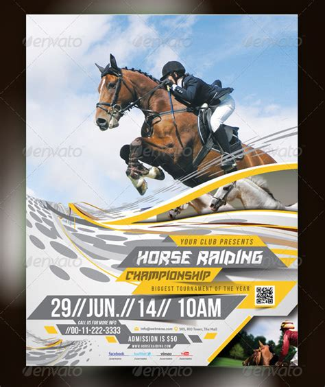 12 Marvellous Horse Flyer Templates Designs Free Premium Templates Free Race Flyer Template