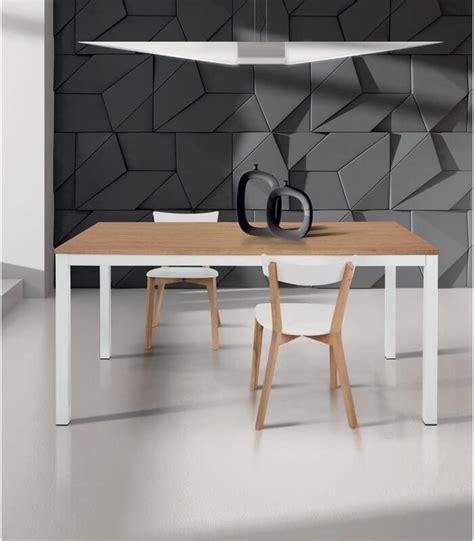 tavolo moderno bianco tavolo moderno allungabile bianco e rovere spazio casa