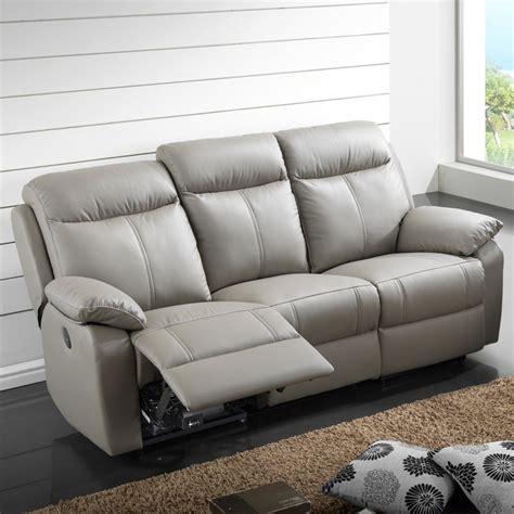Canape Cuir Relax Electrique 3 Places