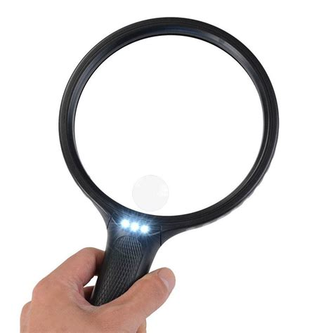 len glas bearmoo 5 5 quot large magnifying glass with light 2x