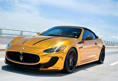 maserati gold chrome wall vk