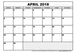 april 2018 calendar template printable monthly calendar