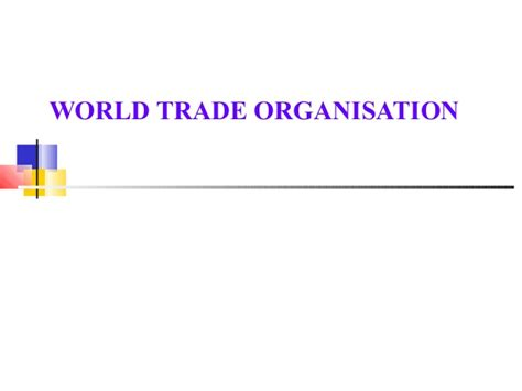 Scope Of Mba In Import And Export by Wto Scope Introd