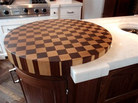 Kitchen Island With Chopping Block Top by End Grain Wood Countertops By Brooks Custom
