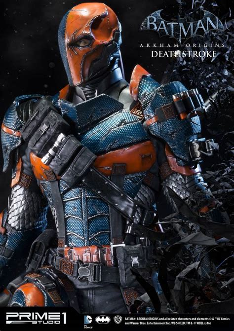 batman arkham origins 1 3 statue deathstroke 76 cm the