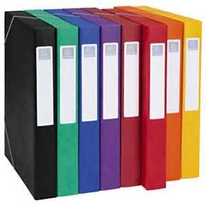 bo 238 te de classement en carte lustr 233 e couleur fournitures