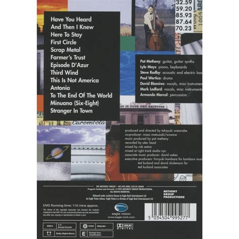 Cd Import Pat Metheny We Live Here we live here live in japan by pat metheny dvd with cipaux76