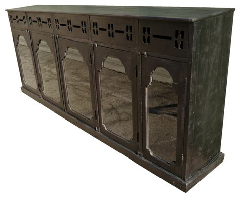 consigned ebony colonial display cabinet asian buffets