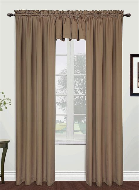 Taupe Color Curtains Metro Rod Pocket Panel Taupe United Draperies
