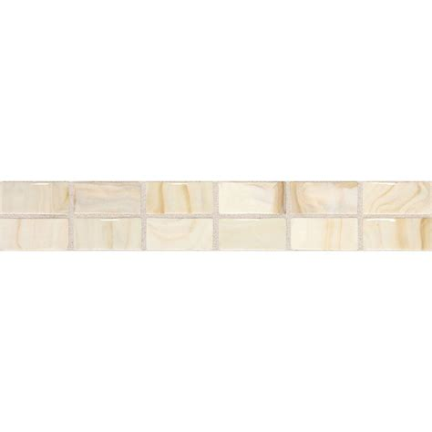 daltile fashion accents beige swirl 2 in x 12 in ceramic decorative accent wall tile