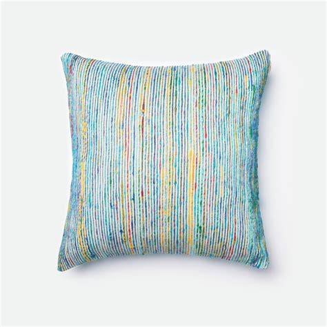Throw Pillow Blue by Blue 22 Inch Decorative Pillow With Poly Insert Loloi