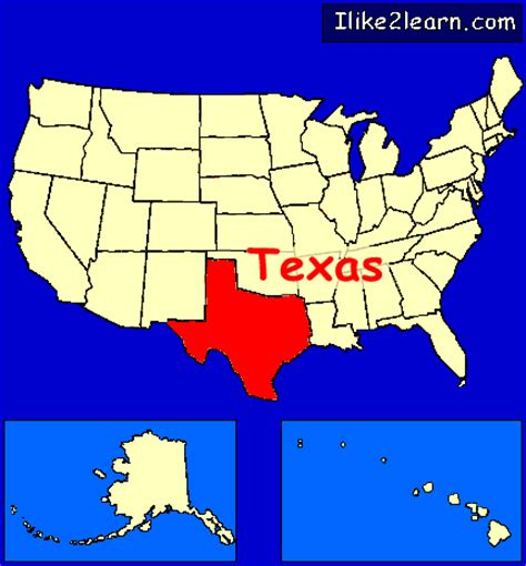 texas usa map texas