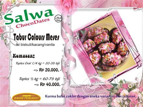 Meses Warna salwa chocodates 171 hadir memanjakan lidah penggemar coklat