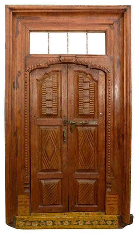 Vintage Front Doors Outstanding 19th Century Antique Reclaimed Wood Indian Door Traditional Front Doors By