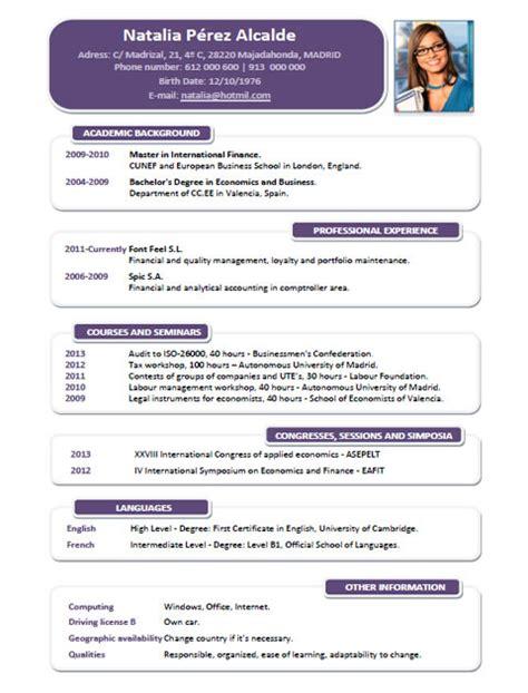 Modelo Curriculum Londres ejemplos y plantillas de curriculum en ingl 233 s trabajar en