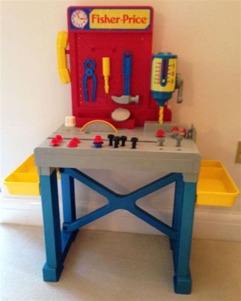 fisher price work bench this old toy s fisher price construction site tools
