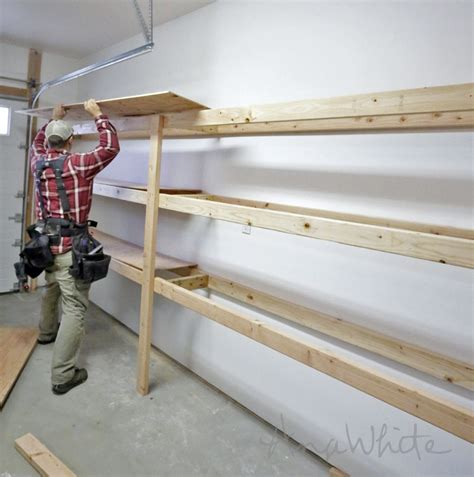homemade boat shelf ana white build a easy and fast diy garage or basement