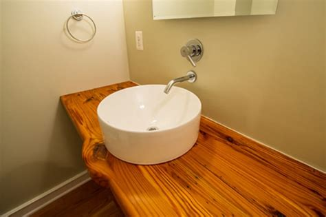 Floating Countertop by Salvaged Pine Floating Countertop Maryland Wood Countertops