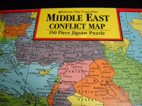middle east map puzzle middle east map puzzle 28 images jigsaw 1990 american