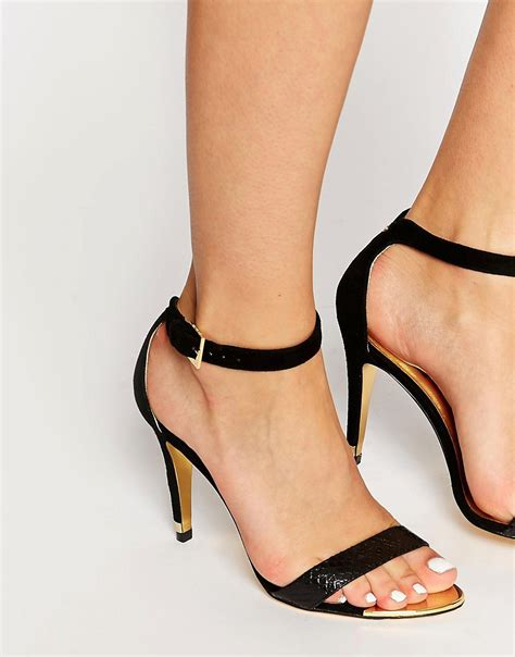 single high heel sandals ted baker ted baker black juliennas single sole high