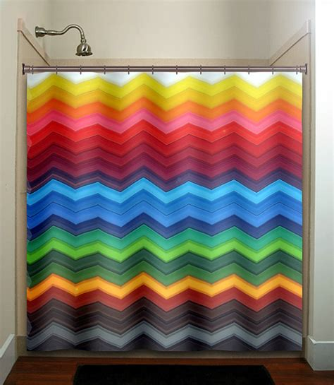 kid shower curtain rainbow chevron shower curtain bathroom decor fabric kids bath
