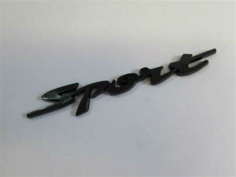 Emblem Tulisan Peugeot Ukuran 815cm emblem tulisan sport hitam ukuran 13x2cm
