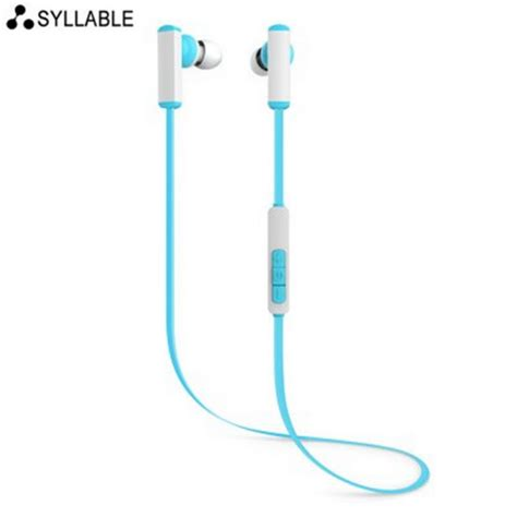 Syllable G02s Earphones Bass Sports syllable d300 bluetooth in ear sport earbuds w mic song switch blue free shipping dealextreme