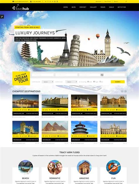 tour template 70 best travel website templates free premium