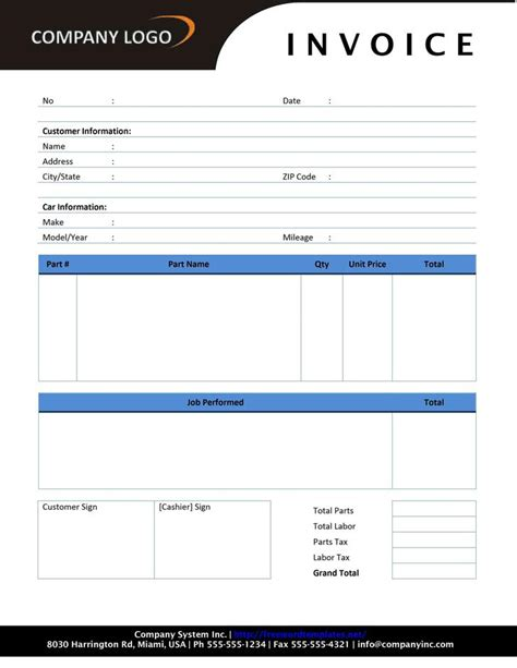 blank estimate template download free premium