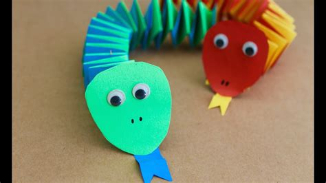 crafts easy easy craft how to make paper accordion snakes